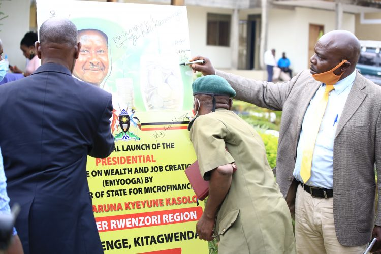 Launch of Emyooga in Kamwenge District